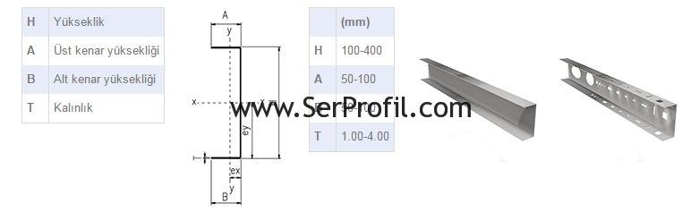 serprofil-U-Profil-cizimi