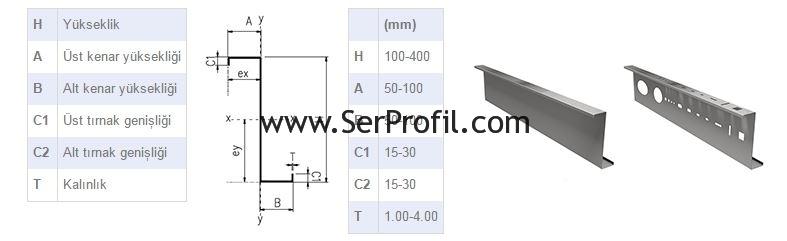 serprofil-Z-Profil-cizimi