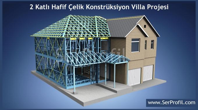 Kayseri Hafif Çelik Yapı Ev Villa İskelet Karkas Metrekare Fiyatları