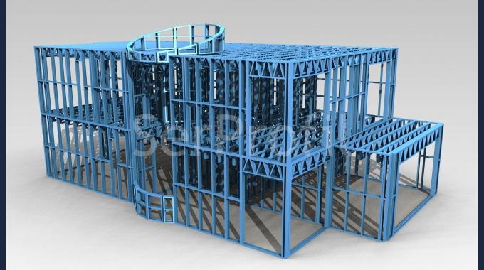 Hafif Çelik U/C Profillerle Ev Villa İskeleti Satış Merkezi