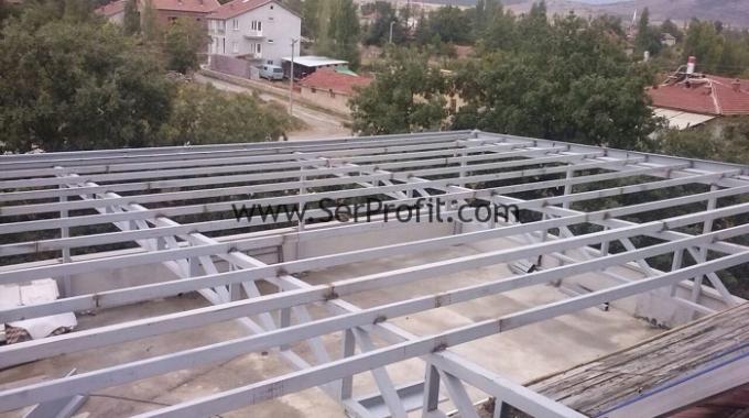Hafif ve Ağır Çelik Konstrüksiyon Kutu Profilli Çatı Malzeme İşçilik Fiyatları