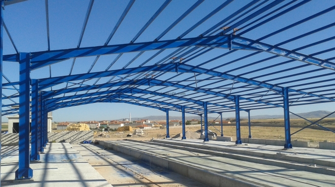 Çelik Konstrüksiyon Depo Çatı Makası Fabrika Hangar m2 Fiyatları 2017