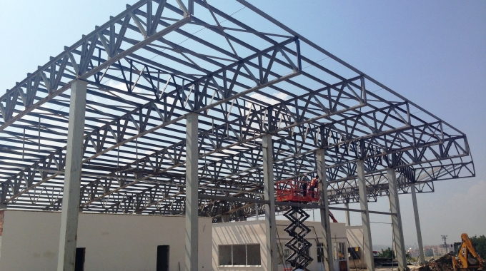 Hazır Hafif Çelik Konstrüksiyon Makaslı Kirişli 1200 m2 Depo Fabrika Hangar Fiyatları