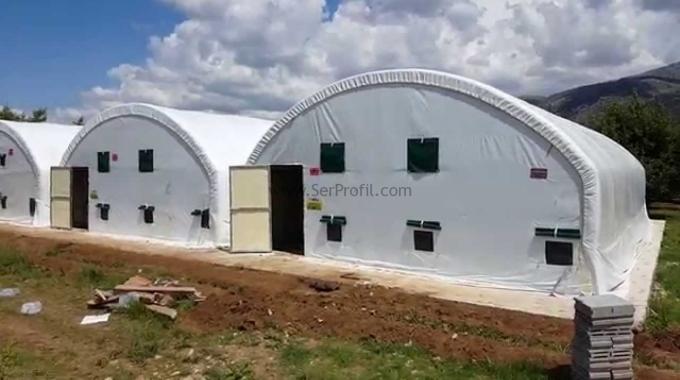 Elli Adet Büyükbaş İçin Prefabrik Çelik Çadır, Hayvan Ahır Projeleri ve Maliyeti