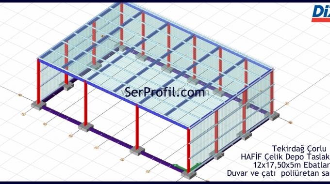 EKONOMİK Prefabrik Depo Hangar Projesi İnşaat Yapım Fiyatları