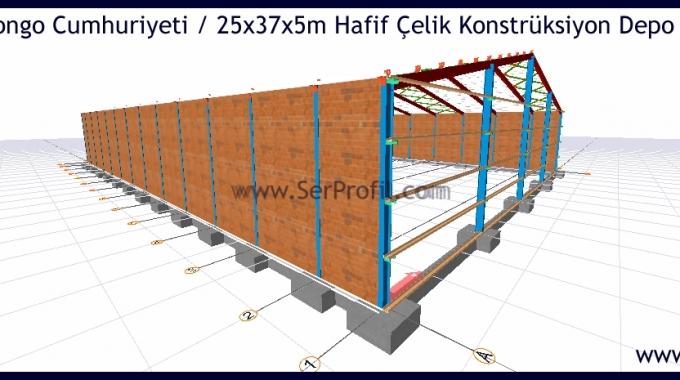 1000 m2 Çelik Konstrüksiyon Bina Fabrika Depo Çizimi Projeleri Fiyatları